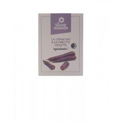 échantillon crème bio hydratante carotte violette