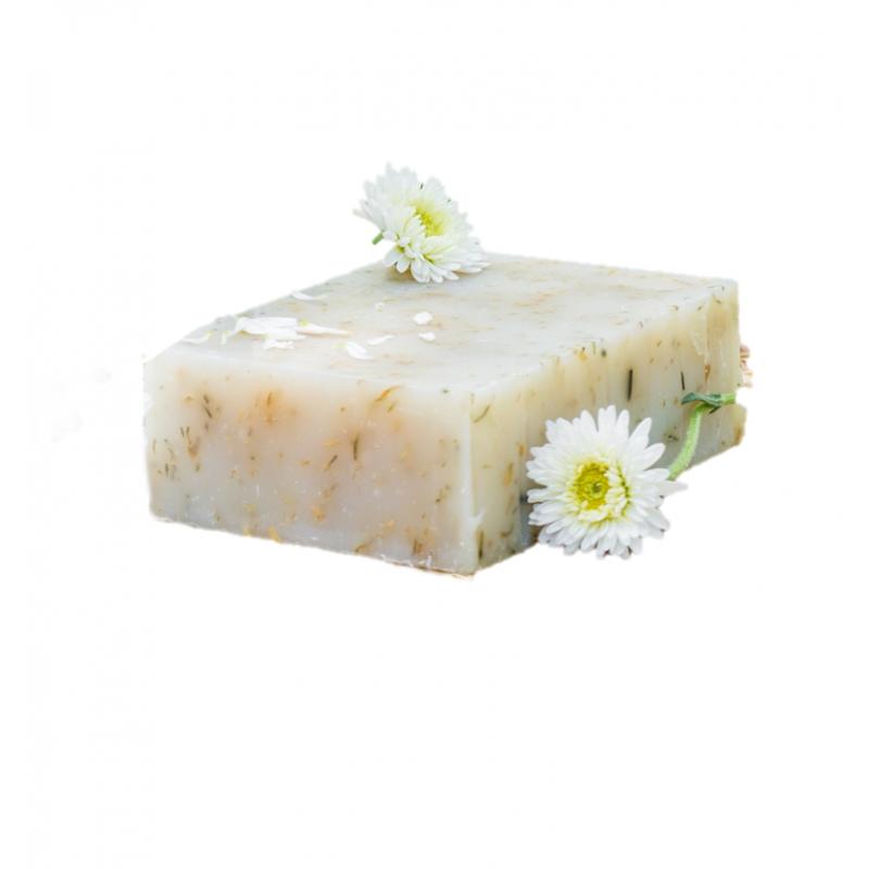 Seife mit Kamille - biologisch abbaubare Verpackung