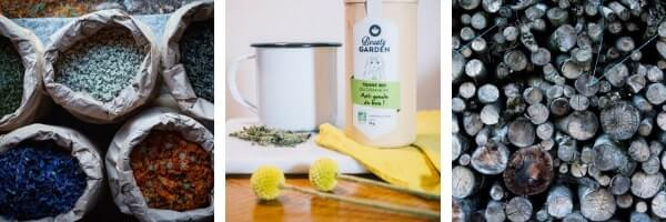 potager auriac cosmetics herbal teas natural nature sample test